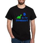 D is for Dinosaur! Dark T-Shirt