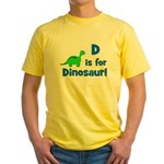 D is for Dinosaur! Yellow T-Shirt