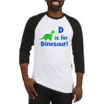 D is for Dinosaur! Baseball Jersey
