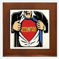Super Accountant Framed Tile