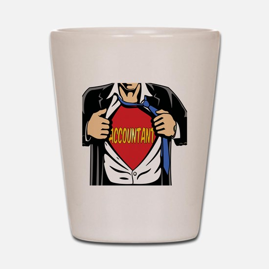 Super Accountant Shot Glass