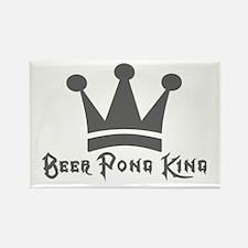 Beer Pong King Rectangle Magnet