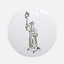 New York: Statue of Liberty Ornament (Round)