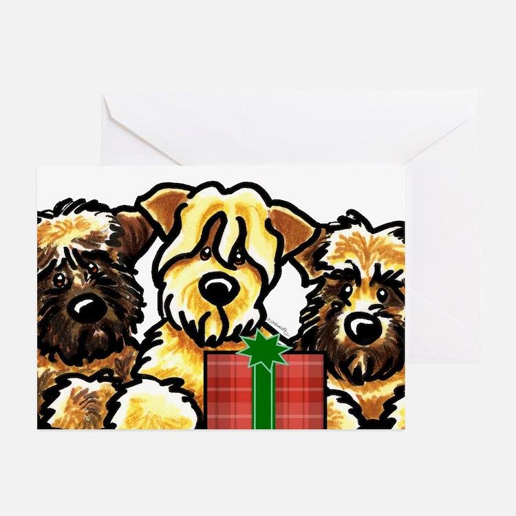 SCWT Wheaten Terrier Christmas Greeting Cards (Pk