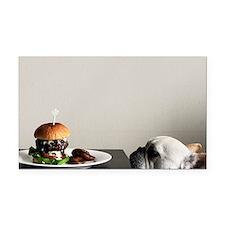 Hamburger and dog Rectangle Car Magnet