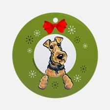 Welsh Terrier Christmas Ornament (Round)