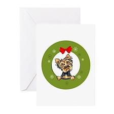 Yorkie Christmas Greeting Cards (Pk of 20)