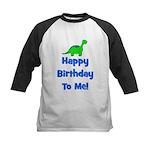Happy Birthday To Me! Dinosau Kids Baseball Jersey
