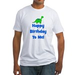 Happy Birthday To Me! Dinosau Fitted T-Shirt
