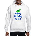 Happy Birthday To Me! Dinosau Hooded Sweatshirt