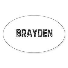 Brayden Oval Decal
