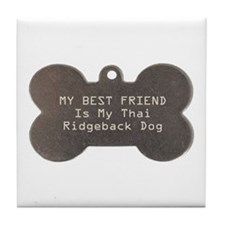 Ridgeback Friend Tile Coaster
