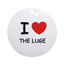 I love the luge  Ornament (Round)