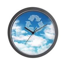 The recycling mark which appears in the Wall Clock