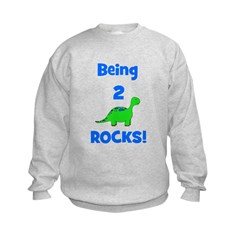 Being 2 Rocks! Dinosaur Sweatshirt