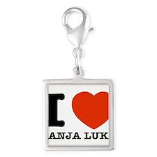 I LOVE Banja luka Silver Square Charm