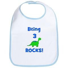 Being 3 Rocks! Dinosaur Bib