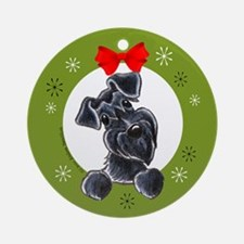 Black Miniature Schnauzer Lover Christmas Ornament