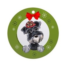 Miniature Schnauzer Lover Christmas Ornament