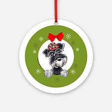 Miniature Schnauzer Lover Christmas Ornament
