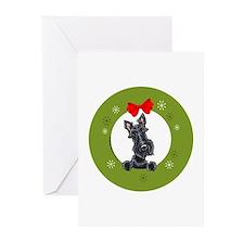 Black Scottie Christmas Greeting Cards (Pk of 20)