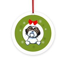 Shih Tzu Christmas Ornament (Round)