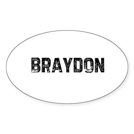 Braydon Oval Sticker