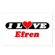 I Love Efren Postcards (Package of 8)