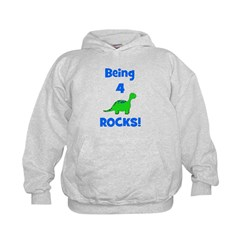 Being 4 Rocks! Dinosaur Hoodie