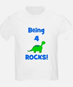 Being 4 Rocks! Dinosaur T-Shirt