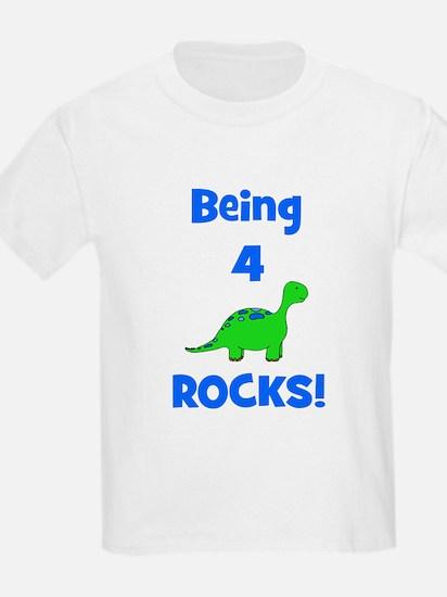 Being 4 Rocks! Dinosaur T-Shirt