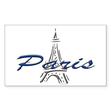 Paris: Eiffel Tower Rectangle Sticker