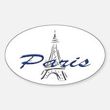 Paris: Eiffel Tower Oval Decal