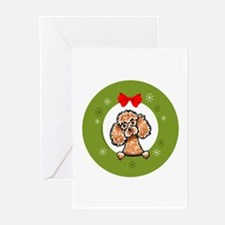 Apricot Poodle Christmas Greeting Cards (Pk of 20)