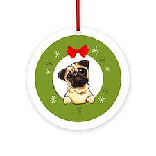 Fawn Pug Lover Gift Christmas Tree Ornament
