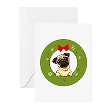 Fawn Pug Christmas Greeting Cards (Pk of 20)