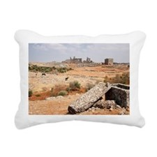 """One of the """"Dead Cities"""" Rectangular Canvas Pillow"""