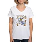 Bingo Boss Animals Women's V-Neck T-Shirt