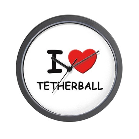 I love tetherball Wall Clock