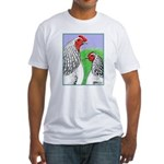 Columbian Cock and Hen Fitted T-Shirt