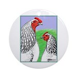 Columbian Cock and Hen Ornament (Round)