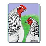 Columbian Cock and Hen Mousepad