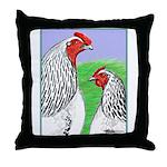 Columbian Cock and Hen Throw Pillow