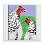 Columbian Cock and Hen Tile Coaster