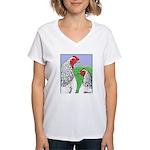 Columbian Cock and Hen Women's V-Neck T-Shirt