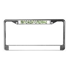 Broadfording, Vintage Camo, License Plate Frame