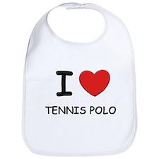I love tennis polo  Bib