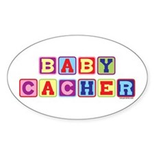 Baby Cacher Oval Decal