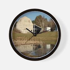 Gray Barn - Reflections of Serenity Wall Clock