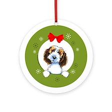 PBGV Christmas Ornament (Round)